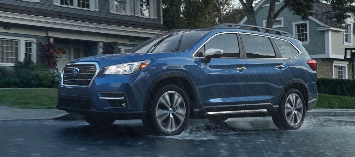2019 Subaru Ascent driving in the rain