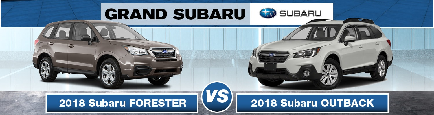 2018 subaru forester vs subaru outback difference