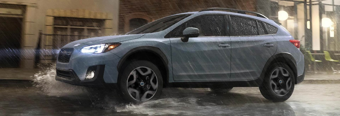 2018 Subaru Crosstrek driving in rain