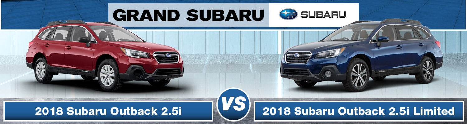 2018 subaru outback 2.5i vs limited difference