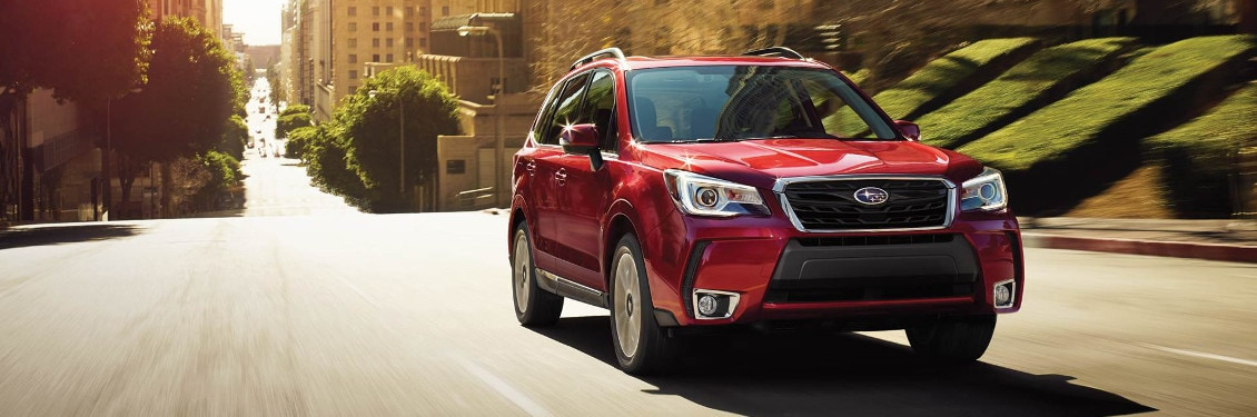2018 Subaru Forester driving on a city road
