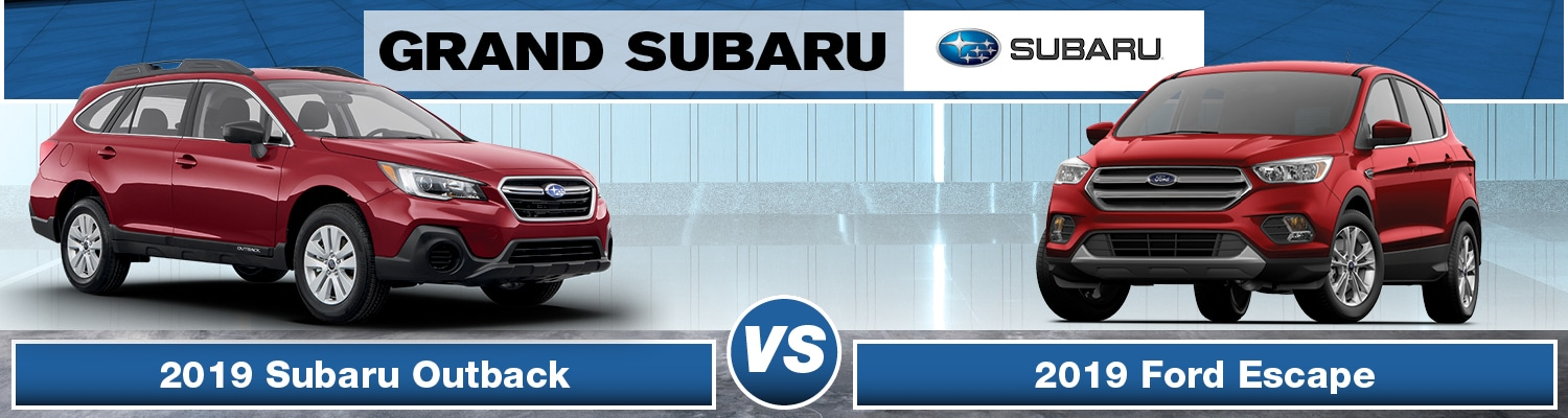 2019 Subaru Outback vs. 2019 Ford Escape banner