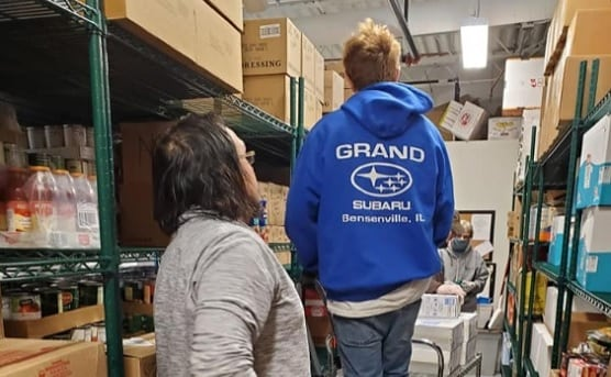 Grand Subaru team food drive April 2020 image 2