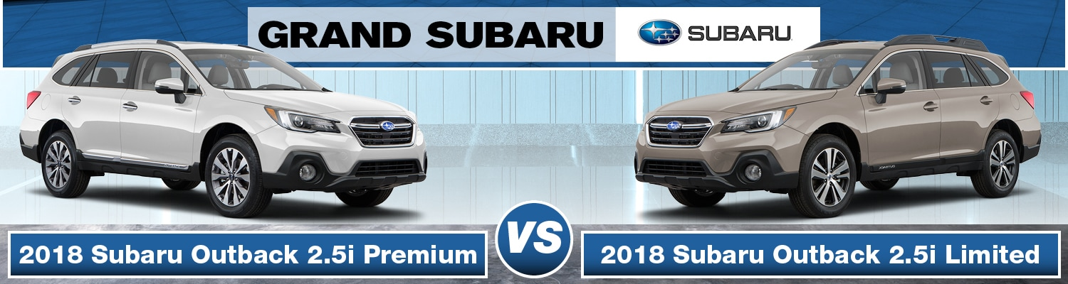 2018 Subaru Outback 2.5i Premium vs. Limited