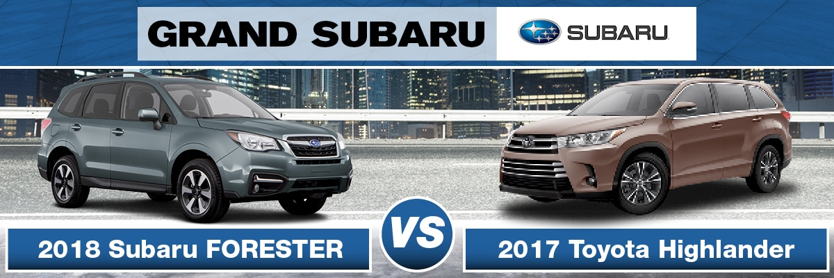 Subaru Forester Vs Toyota Highlander