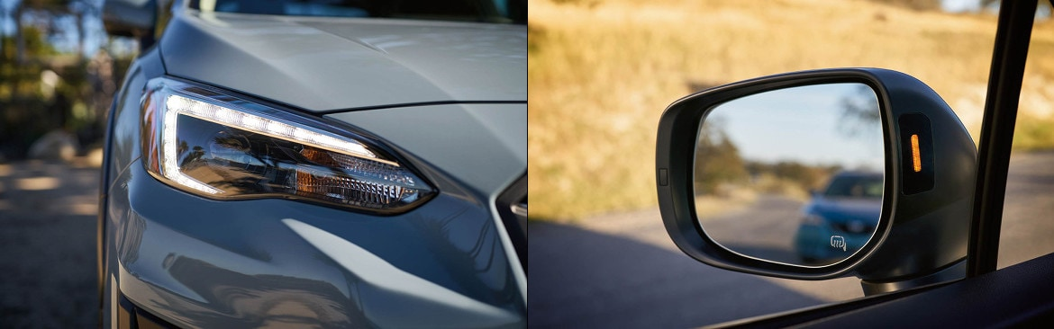 2018 Subaru Crosstrek Headlight and Driver Side Mirror