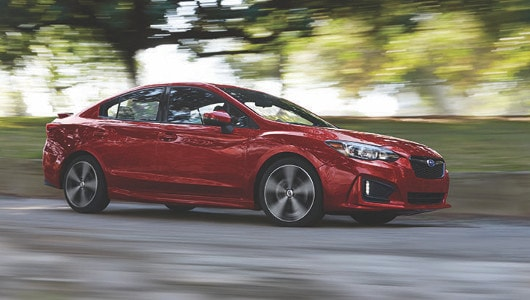 2019 Subaru Impreza sedan in red