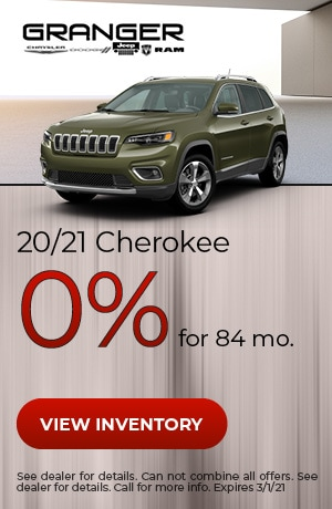 20/21 Jeep Cherokee - 0% APR