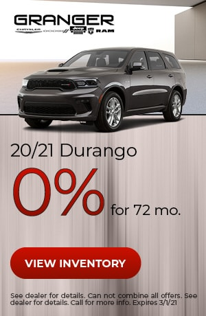 20/21 Dodge Durango - 0% APR