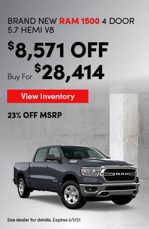 Ram 1500 4 Door 5.7 Hemi - Employee Pricing