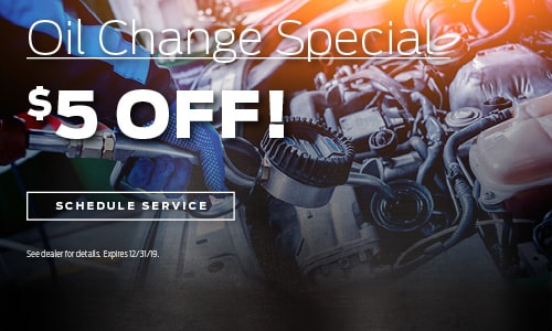 Oil Change Special - $5 Off!