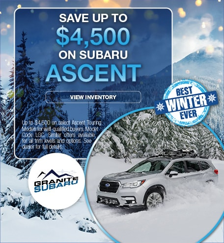 Save Up To $4,500 On Subaru Ascent