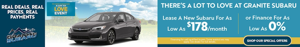 There's A Lot to Love at Granite Subaru