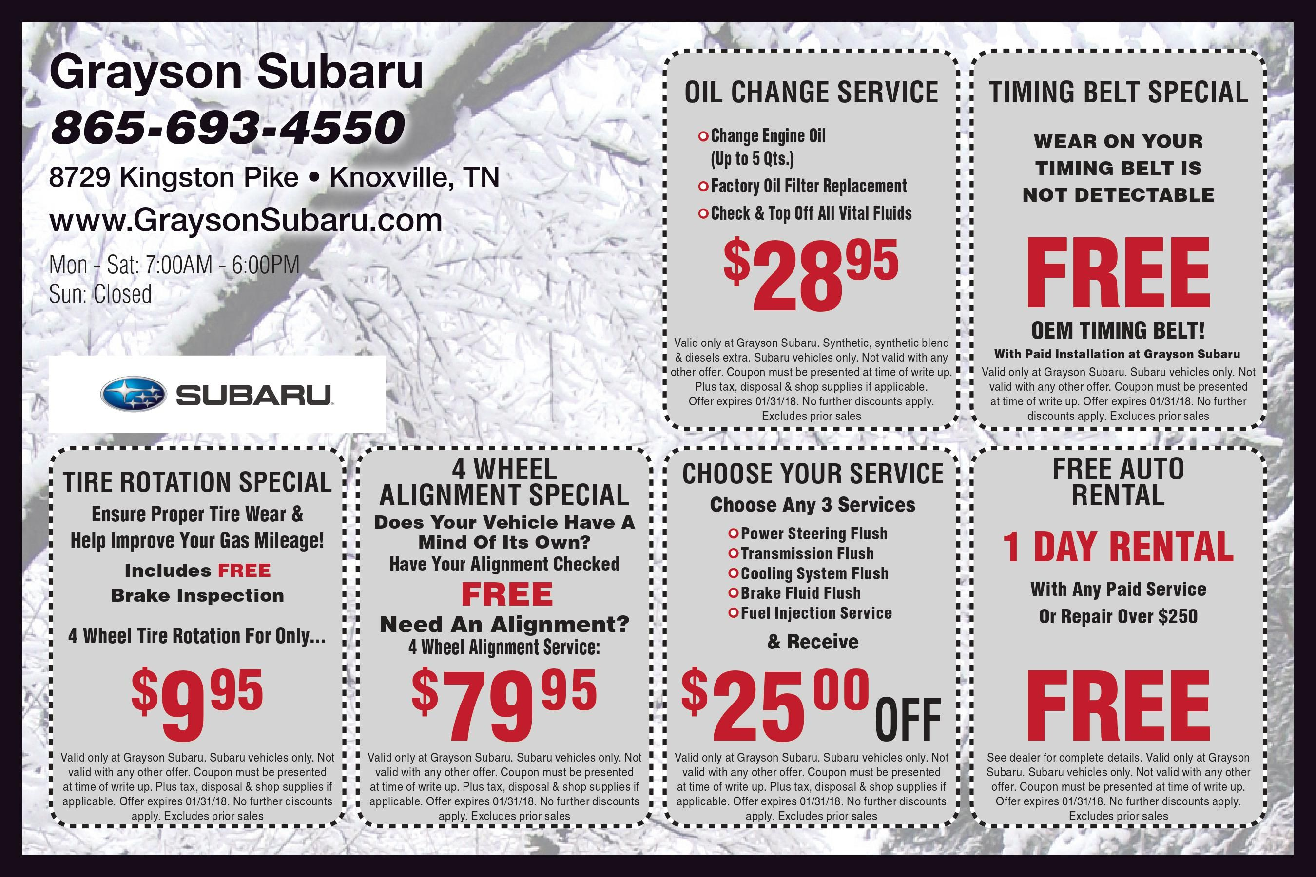 Auto Service Specials Knoxville