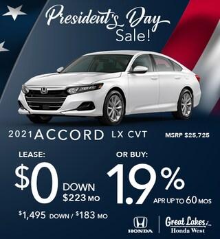 2021 Honda Accord Feb. Offer