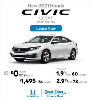2021 Honda Civic May Offer