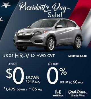 2021 Honda HR-V Feb. Offer