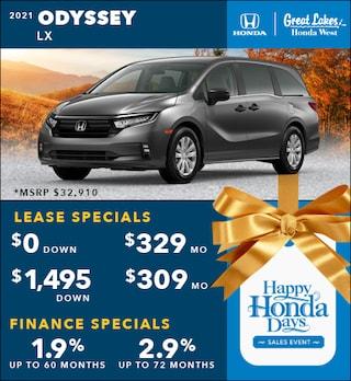 2021 Honda Odyssey Nov. Special