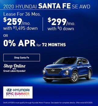 2020 Hyundai Santa Fe August