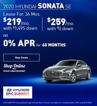 2020 Hyundai Sonata August