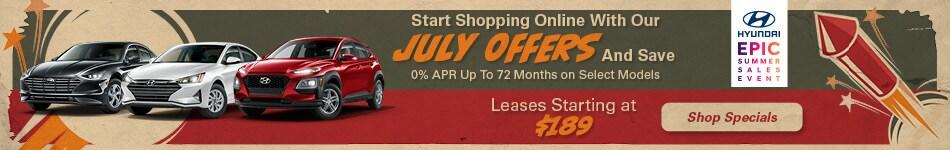 July Summer Specials