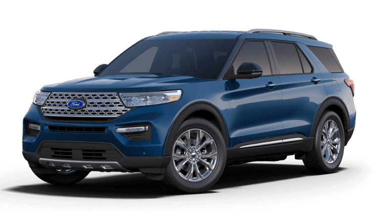 2020 Ford Explorer Limited blue