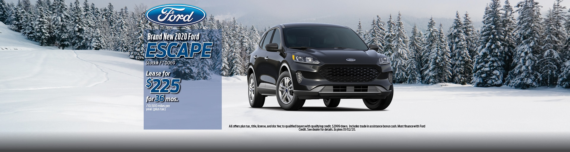 2019 Ford Escape Lease Deal