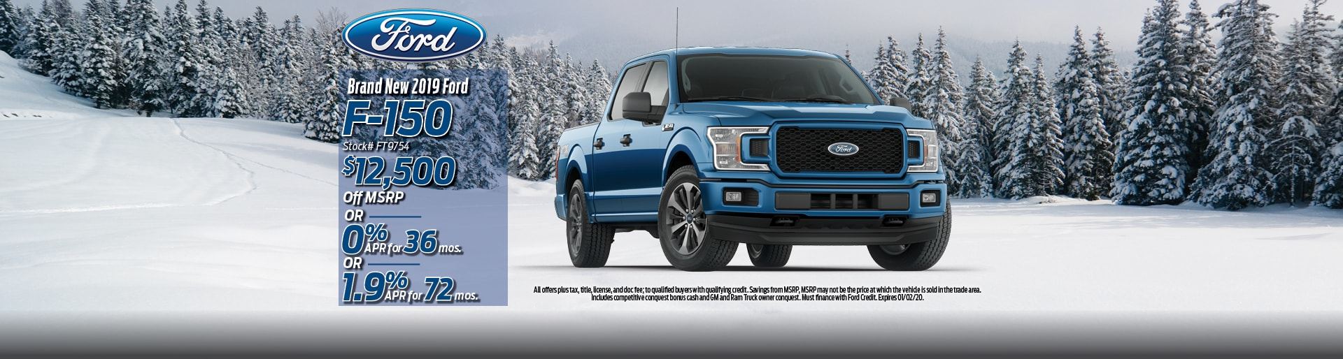 2019 Ford F-150 Lease Deal