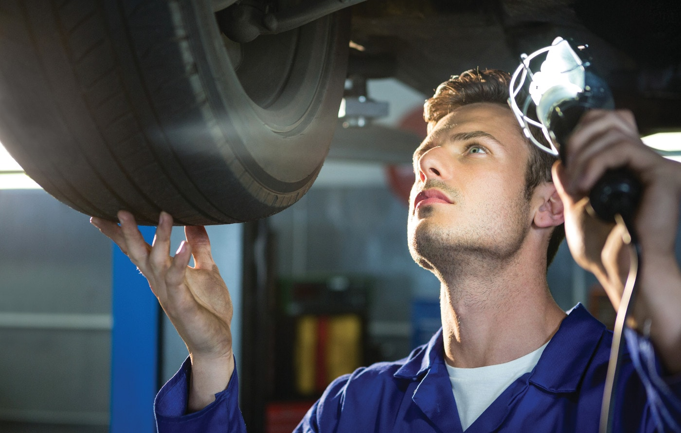 mechanic doing auto repair