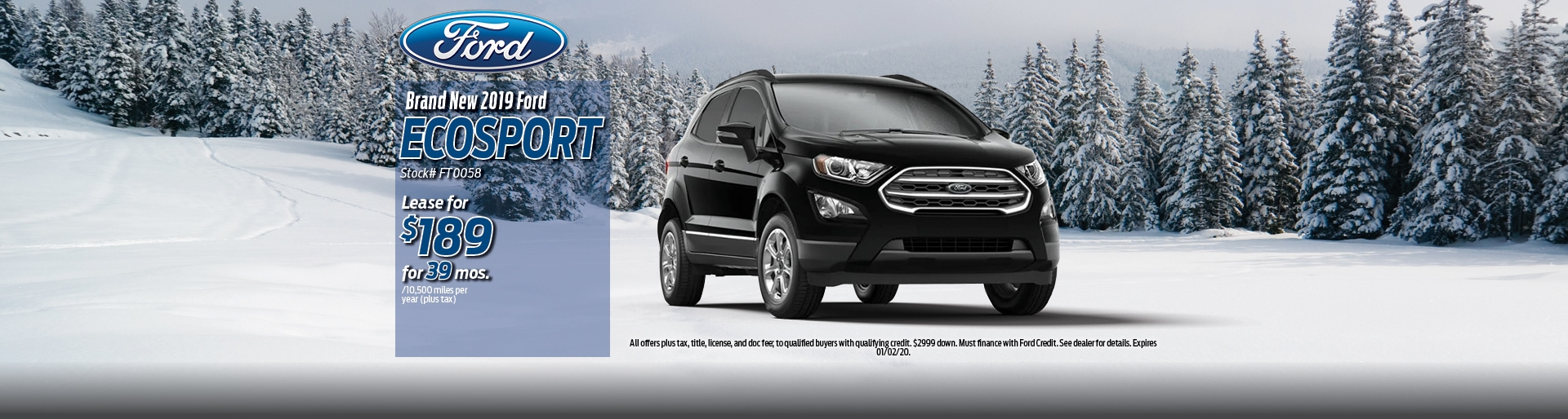 2019 Ford Ecosport Lease Deal