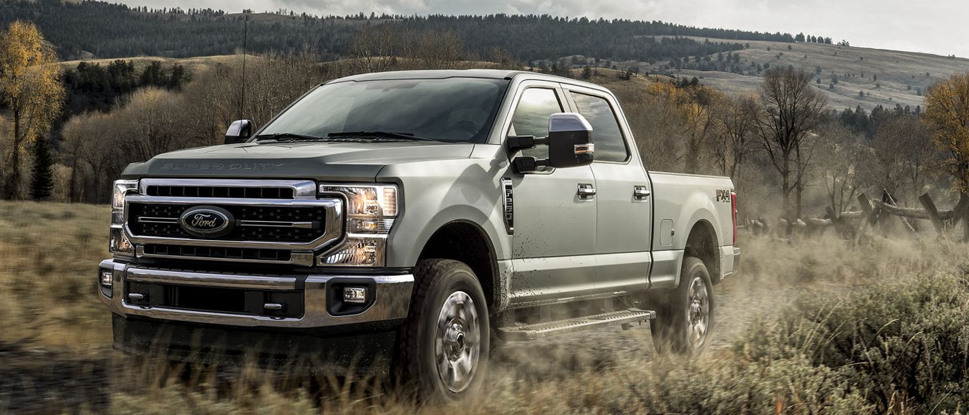 Grey 2020 Ford Super Duty® on hill