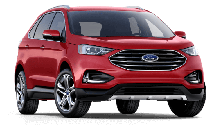 2019 Ford Edge Titanium in Ruby Red