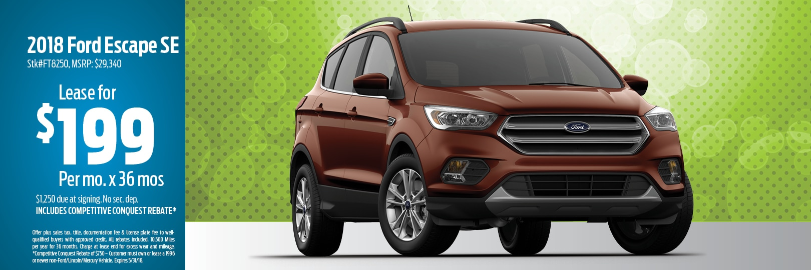 2018 Ford Escape Lease Deal in Muskegon, MI