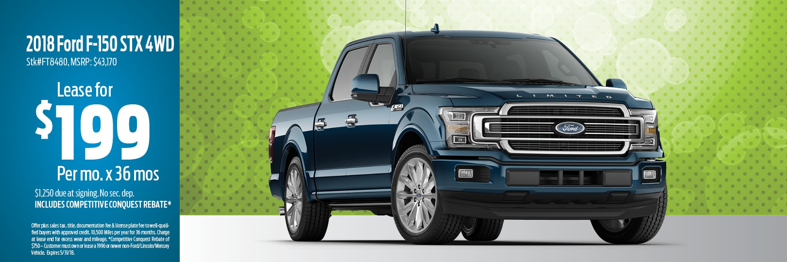 2018 Ford F-150 Lease Deal in Muskegon, MI