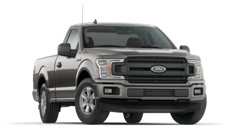 A grey 2020 Ford F-150 XL