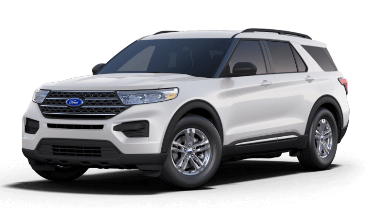White 2020 Ford Explorer XLT