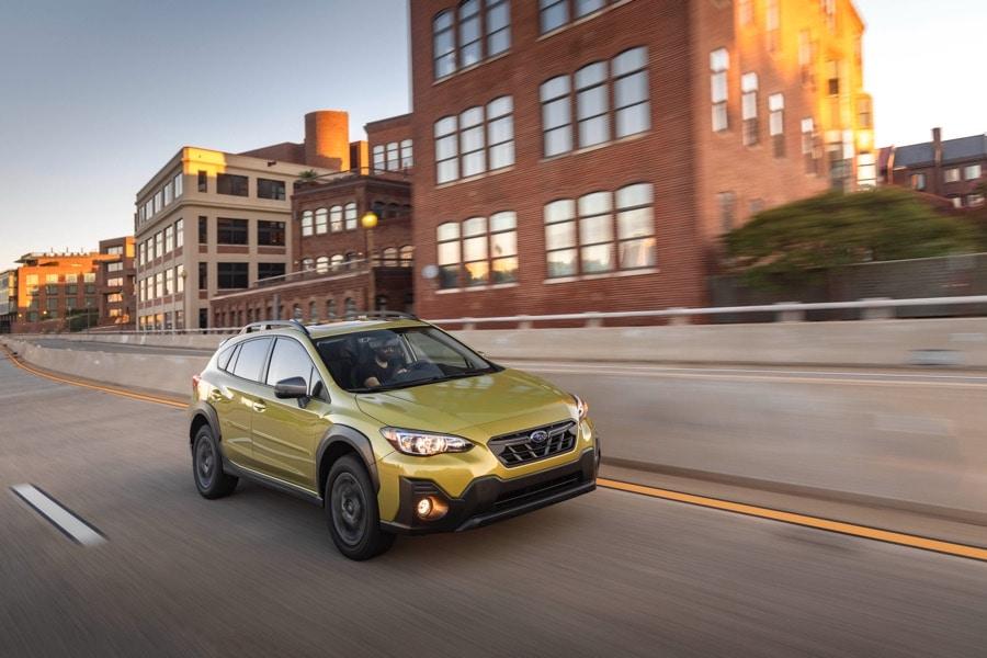 2021 Subaru Crosstrek Sport yellow city street