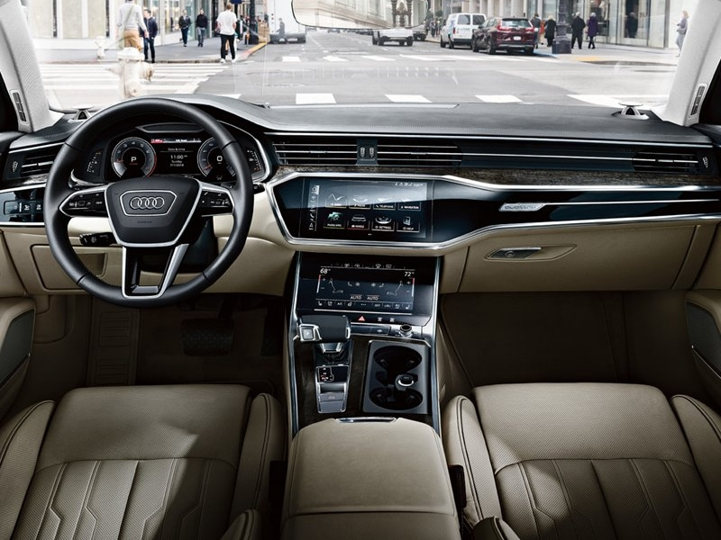 The luxurious interior of the 2019 Audi A6