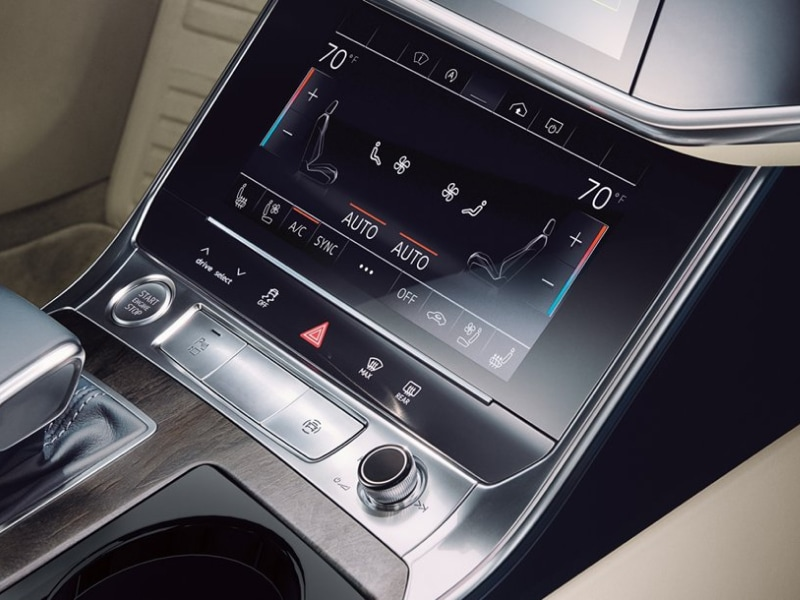 Touchscreen display inside the 2019 Audi A6