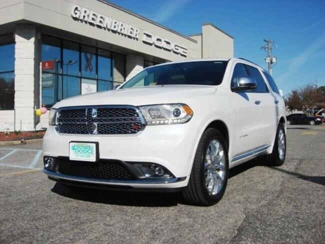 New 2018 Dodge Durango CITADEL RWD Sport Utility in Chesapeake