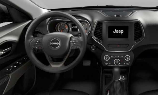 2019 Jeep Cherokee Interior design and technology console