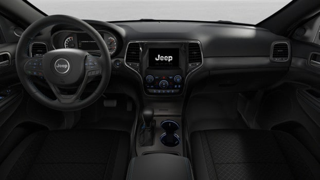 interior of 2019 Jeep Granc Cherokee Upland