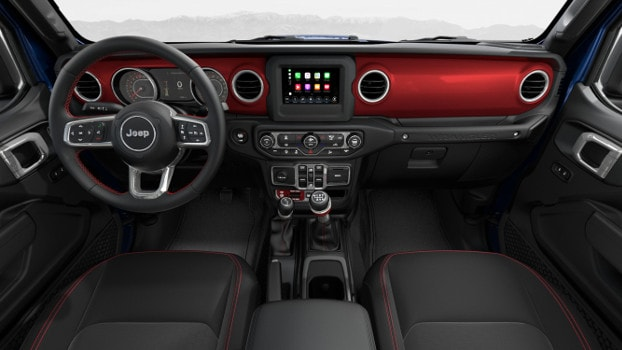 interior of 2019 Jeep Wrangler Rubicon