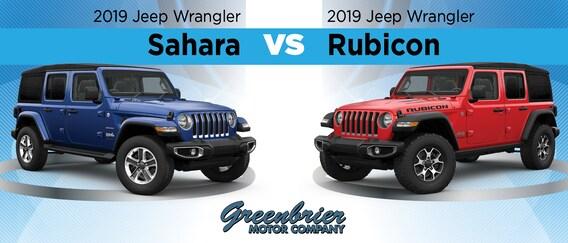 2019 Jeep Wrangler Sahara Vs 2019 Jeep Wrangler Rubicon