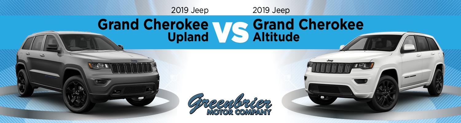 2019 Grand Cherokee Upland trim compared to 2019 Jeep Grand Cherokee Altitude trim