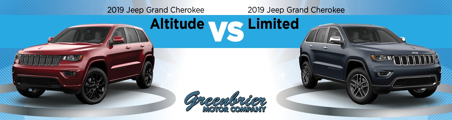 2019 Jeep Grand Cherokee Altitude Vs. Limited