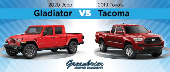 2020 Jeep Gladiator Vs 2019 Toyota Tacoma Specs Design Features