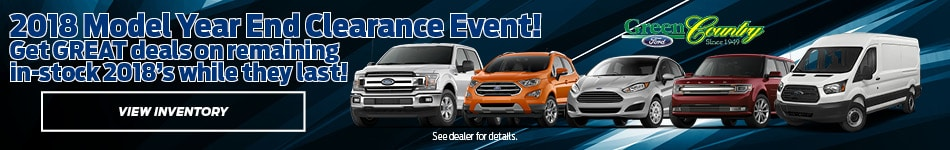 2018 Model Year End Clearance Event