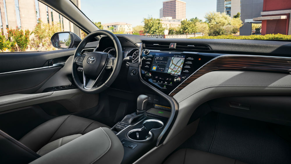 interior 2019 Toyota Camry Green Toyota Taylorville, IL