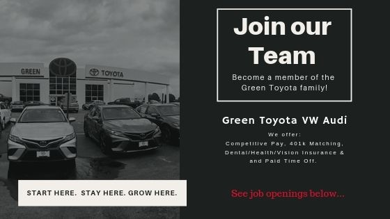Green'S Toyota Service >> Join Our Team Green Toyota